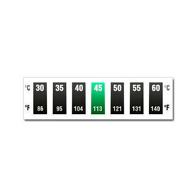 Digitemp 7 Level Horizontal Dual Scale 30°C to 60°C Thermometer strip sticker
