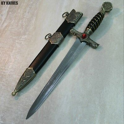 "15.5"" Roman Collectible Style Dagger with Sheath NEW 6908 zix"