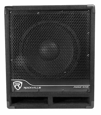 "New Rockville RBG10S Bass Gig 10"" 1200 Watt Active Powered PA Subwoofer DJ/Pro"