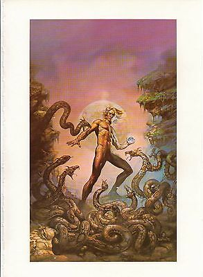 """1978 Full Color Plate /""""The Dragon and the George/"""" by Boris Vallejo Fantastic GGA"""