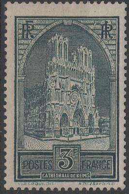 """FRANCE STAMP TIMBRE N° 259 b """" CATHEDRALE REIMS 3F TYPE III """" NEUF xx TTB H265"""