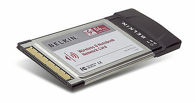 Belkin G Wireless PCMCIA Notebook/Laptop Card High Speed 54Mbps F5D7010