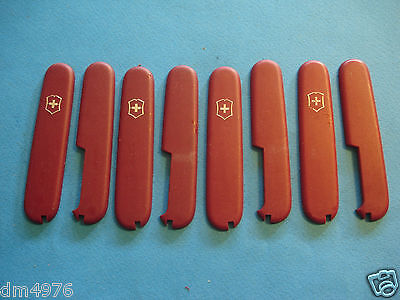 NTSA LOT of 4 SETS OF SWISS ARMY VICTORINOX - 91mm  NON GLARE USED SCALES