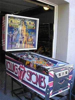 ROLLING STONES Pinball Game-BALLY-w/ LED's-ROCK & ROLL YOUR WAY WITH THE STONES!