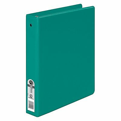"12 Wilson Jones Basic Round Ring Binders 1 1/2"" Capacity, 8.5 x 11 Inches, Green"