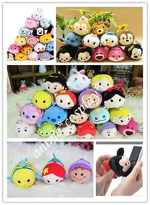 """New 3.5"""" LOVELY Tiny Plush Doll Mini Toy Tsum  Key Accessories Phone Screen Wipe"""