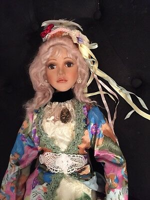 """Connoisseur Collection Seymour Mann Porcelain Doll 29"""" Cindy Koch Peacoc Frenchy"""