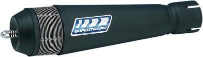 Supertrapp Clamp On Exhaust Silencer Body Tailpipe 1 1/2 Inch Black Universal