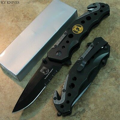 "8.5"" POW MIA Tactical Assisted Open Rescue Pocket Knife SE-723POW zix"