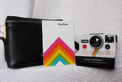Unused Mint Vintage Polaroid One Step Land Instant Camera & Carrying Case Manual