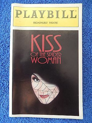 Kiss Of The Spider Woman - Broadhurst Playbill - Opening Night - May 1993