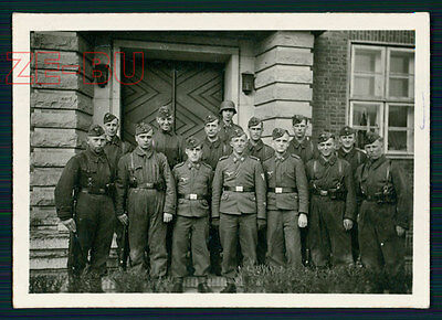 vintage photo GERMAN SOLDIERS IN A ROW WWII 1940s