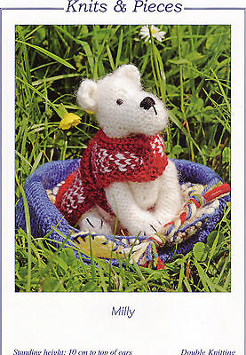 MILLY - CUTE LITTLE DOG TOY KNITTING PATTERN by Sandra Polley