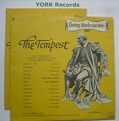 LIVING SHAKESPEARE - The Tempest *WITH BOOK* - Excellent Condition LP Record