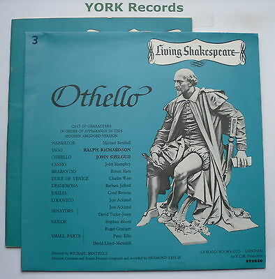 LIVING SHAKESPEARE - Othello *WITH BOOK* - Excellent Condition LP Record