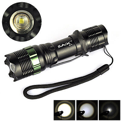 7W 400lm CREE XPR Q5 LED ZOOMABLE Focus Flashlight Torch Lamp 18650/AAA SA9 Zoom