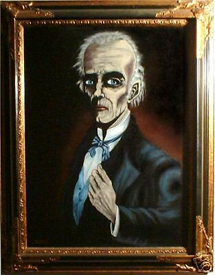 """Haunted Spooky Mansion Painting """"EYES FOLLOW  YOU"""""""
