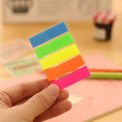 100Pcs Mixed Color Post It Bookmark Marker Memo Flags Index Pad Tab Sticky Notes