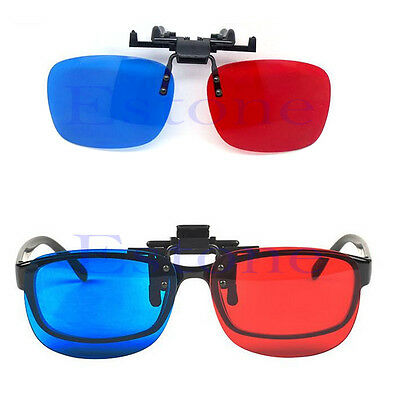 New Red Blue Glasses Hanging Frame 3D Clip Type Myopia Special Stereo 3D Glasses