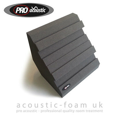6x BASSBLOCK's Pro Acoustic Foam Bass Traps Studio Sound Room Treatment