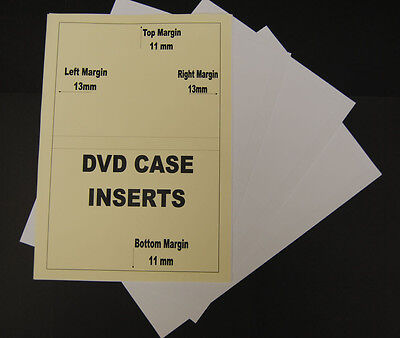 50 Sheets Of 120gsm Inkjet Printable Matt DVD Library Case Inserts Inlays
