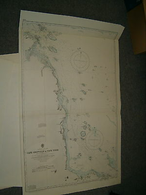 Vintage Admiralty Chart 2919 AUSTRALIA - CAPE GRENVILLE to C. YORK -  1959 edn
