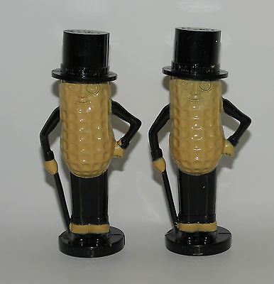 "Vintage Collectible Plastic Planters Mr Peanut Salt & Pepper Shakers USA 4""    D"