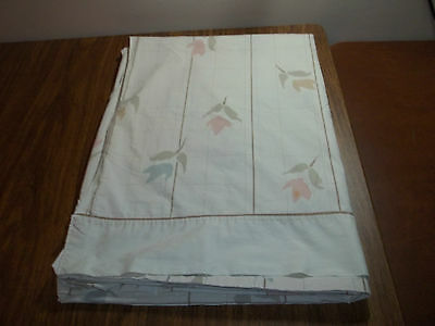 VINTAGE DANVILLE  TWIN FLAT SHEET SHABBY FLORAL