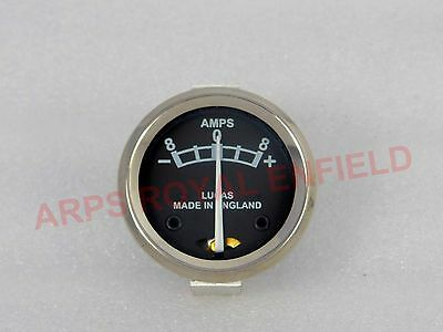"bsa Ammeter Replica Lucas Made in England 8 Amps 1 5/8"" amp meter AUTO EDH"