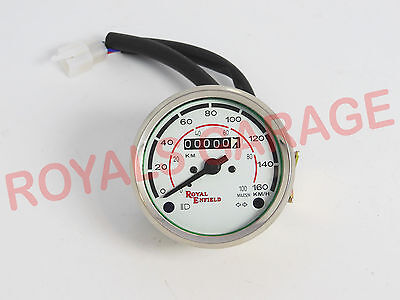Brand New Vintage Universal Royal Enfield White Face Speedometer 0-160Kmph