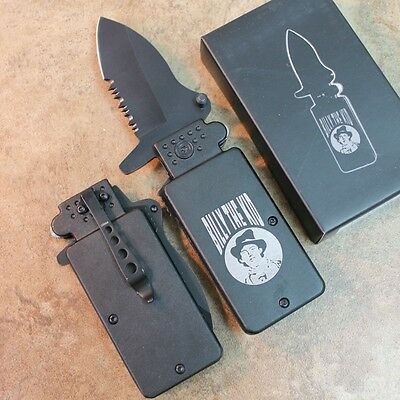 "6"" Lighter Fighters BILLY THE KID Assisted Open Pocket Knife NEW LK1689-BK  zix"