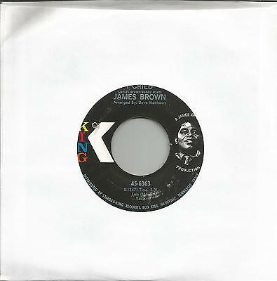 JAMES BROWN - I CRIED / WORLD PT.2 (KING 45-6363) USA ISSUE SOUL 7'' EX