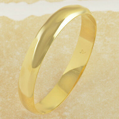 Smooth 9k Yeloow Gold Filled Womens Bracelet 58*10mm F2803