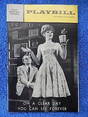 On A Clear Day... - Mark Hellinger Playbill - Opening Night - October 1965