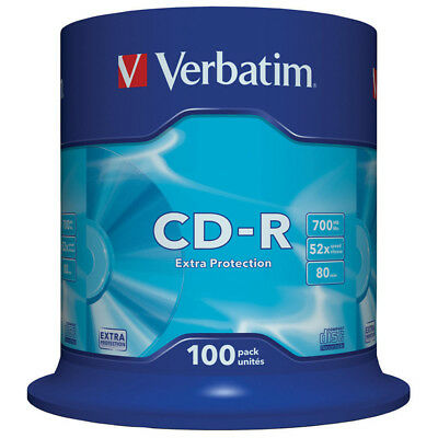 Verbatim CD-R Extra Protection Discs - 700MB - 52x Speed - 100 Pack