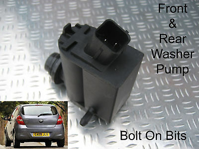 Front & Rear Windscreen Washer Pump For Hyundai i20 2008, 09, 10, 11, 12 2013