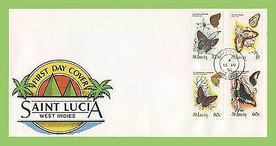 St Lucia 1991 Butterflies set on First Day Cover