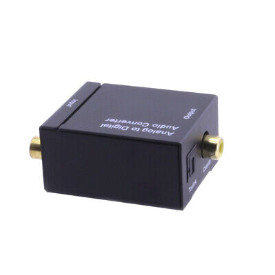 Analog RCA Audio to Digital Optical Coaxial Toslink Audio Converter Adapter