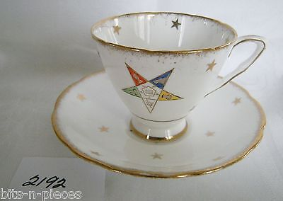 ROYAL STAFFORD Bone China  England OES Cup and Saucer  pink roses gold rims