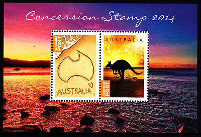 2014 Concession Stamps MUH Mini Sheet - Limited Numbers Only Available Yr Book