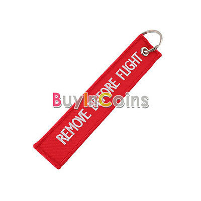 Before Flight Key Chain Luggage Tag Zipper Pull Woven Embroidery Keychain HK IMK