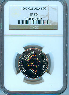 1997 Canada Fifty  Cents Ngc  Sp-70   Finest Graded