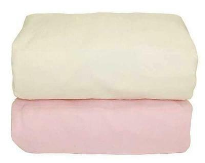 Tadpoles Arlington Organic Cotton Flannel Fitted Crib Sheets, Set of 2 Pink/Nat