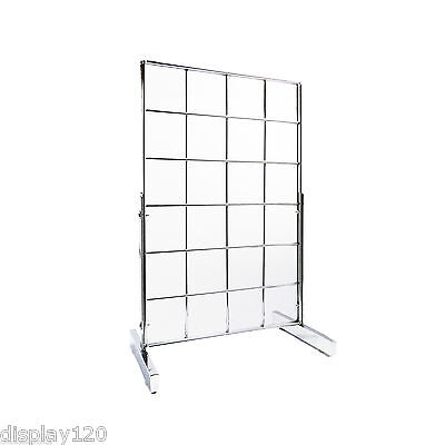 Gridwall Countertop Mesh Display Panel Accessories Stand With T-Legs