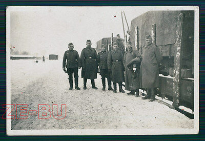 vintage photo GERMAN SOLDIERS ON TRAIN STATION WWII 1940s