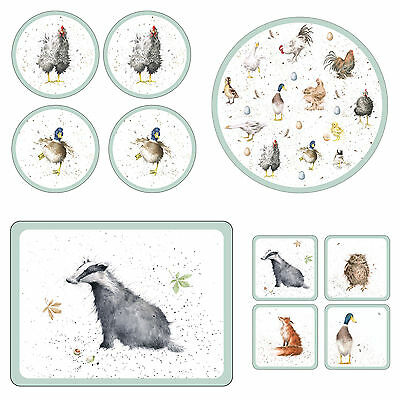 Wrendale Designs Animal / Farm Placemat or Coaster Range or Serving  Trays