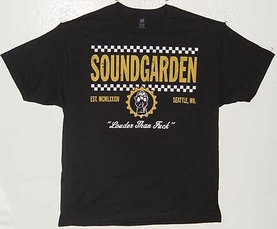 UNWORN 2013 SOUNDGARDEN TOUR T SHIRT SIZE LARGE GAS MASK LOUDER THAN F#&K
