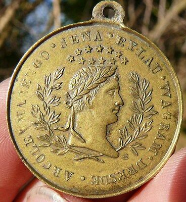 LOVELY !!! 33mm TRIBUTE MEDAL  of   NAPOLEON  BONAPARTE  MILITARY  VICTORIES