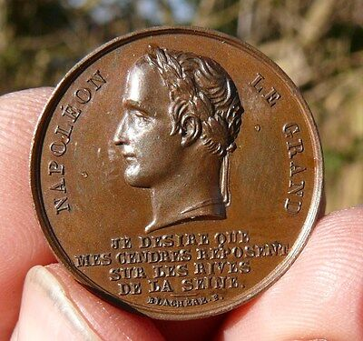SUPERB !!!!  MEDAL of  RETURN  NAPOLEON  BONAPARTE BODY to the INVALIDES 1840