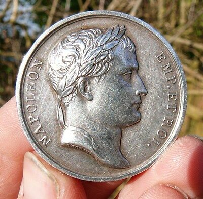 LOVELY !! 41mm MEDAL of  NAPOLEON BONAPARTE - BATTLE  of  AUSTERLITZ  - 1805